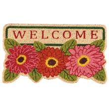 Floral Welcome Coir Mat
