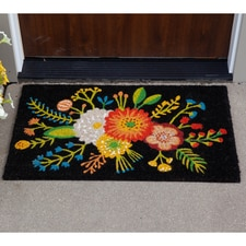 Golden Bloom Coir Mat
