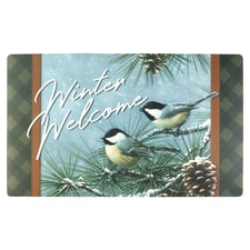 Chickadee and Pine Mat