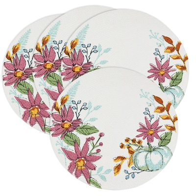 Festive Foliage Braided Placemat Set