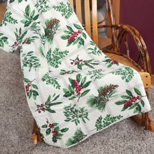 Winter Botanical Throw
