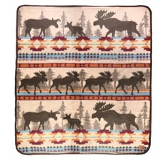 Moose Family Throw