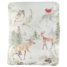 Snowy Forest Fleece Throw