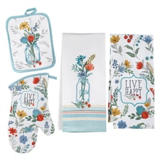 Live Happy Kitchen Linen Set