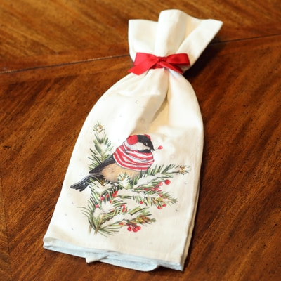 Chickadee Flour Sack Towels