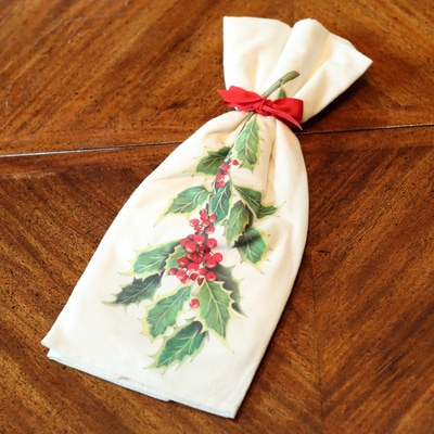 Holly and Berries Flour Sack Towels