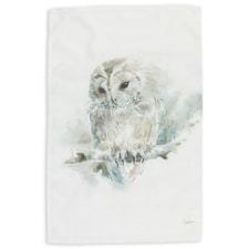 Owl Watercolor Kitchen Towel