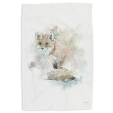 Fox Watercolor Kitchen Towel