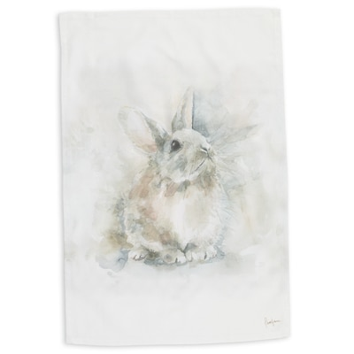Rabbit Watercolor Kitchen Towel