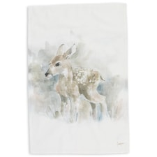 Deer Watercolor Kitchen Towel