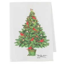 Cardinal Yuletide Kitchen Towel