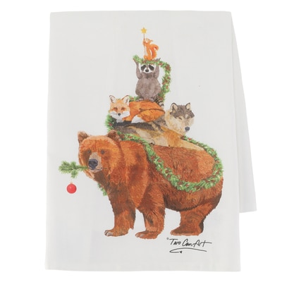 Woodland Yuletide Kitchen Towel