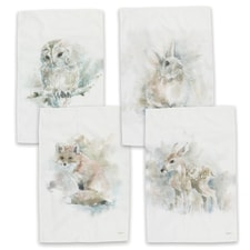 Wildlife Watercolor Kitchen Towel Set