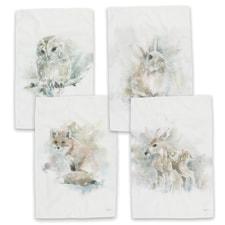 Wildlife Watercolor Kitchen Towel Set