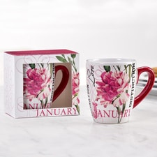 Birthday Flower Mug - January