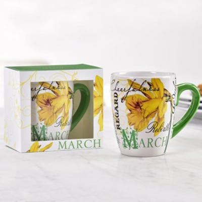 Birthday Flower Mug - March