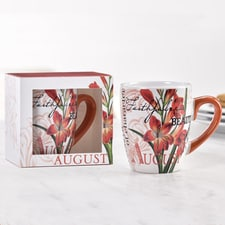 Birthday Flower Mug - August