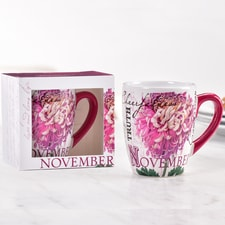 Birthday Flower Mug - November