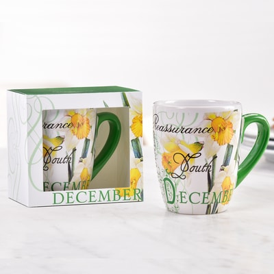 Birthday Flower Mug - December
