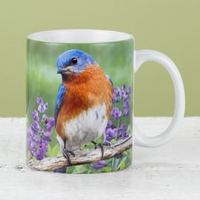 Bluebird and Purple Wildflowers Mug
