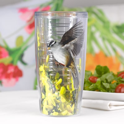 White Crowned Sparrow Tumbler