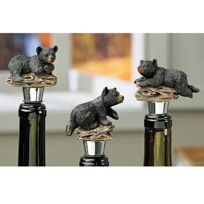 Bear Bottle Stopper Set