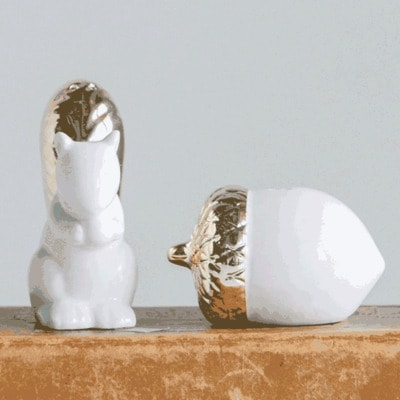 Squirrel & Acorn Shakers