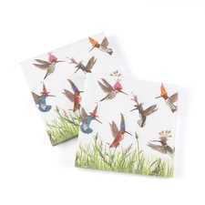 Hummingbird Frenzy Beverage Napkins