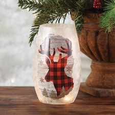 Plaid Deer Luminary