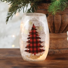 Plaid Tree Luminary