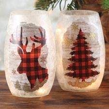 Deer & Tree Luminary Set