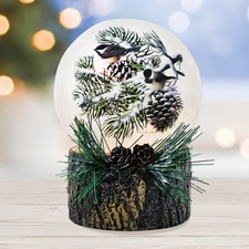 Winter Snow Chickadees Luminary