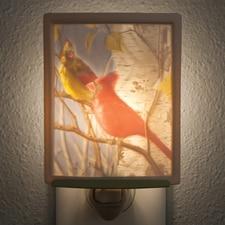 Cardinal Porcelain Night Light