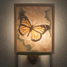 Butterfly Porcelain Night Light
