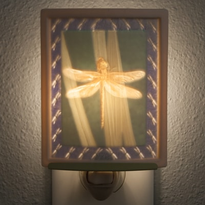 Dragonfly Porcelain Night Light