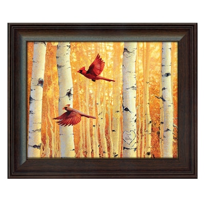Cardinal Pair Personalized Art Print