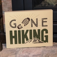 Go Hiking Wall Plaque
