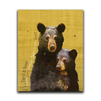Wildlife Series Bear Personalized Wall Art