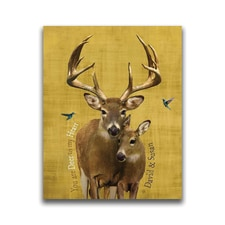 Wildlife Series Deer Personalized Wall Art