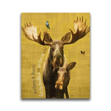 Wildlife Series Moose Personalized Wall Art