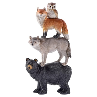 Forest Animal Totem Pole