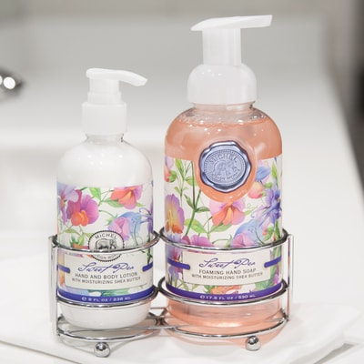 Sweet Pea Soap & Lotion Caddy
