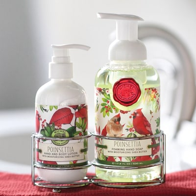 Poinsettia Soap & Lotion Set