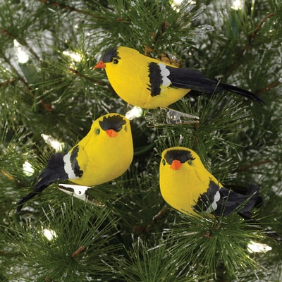 Goldfinch Clip Ornaments