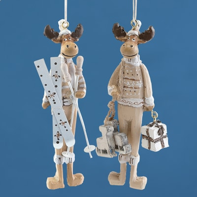 Fair Isle Moose Ornaments