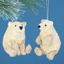 Polar Bear Buri Ornament Set