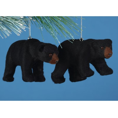 Black Bear Plush Ornament Set