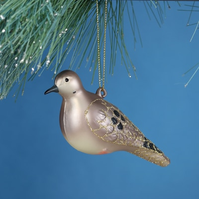 Mourning Dove Glass Ornament
