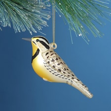 Meadowlark Glass Ornament