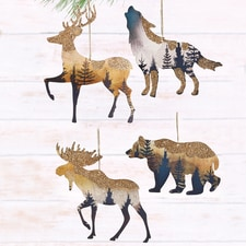 Metal Silhouette Woodland Animal Ornaments
